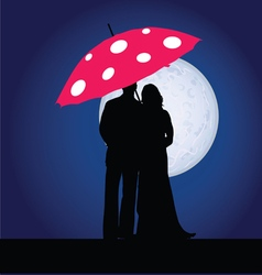 Couple on the moonlight vector