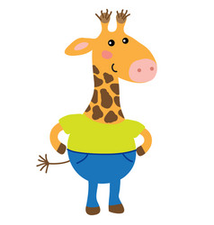 Cute cartoon giraffe vector