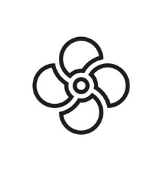 fan icon on white background vector image vector image