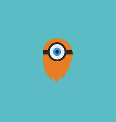 Flat icon cyclop element of vector