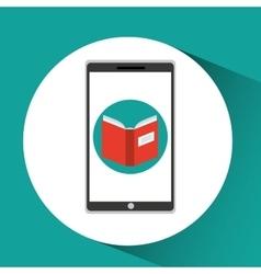 Girl app education online open book vector