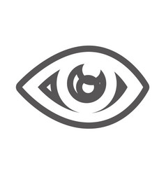grayscale contour with eye icon vector image vector image