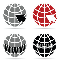 icon for web internet vector image