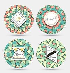 Mandala kaleidoscope vintage style grange mandala vector