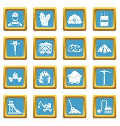 Miner icons azure vector