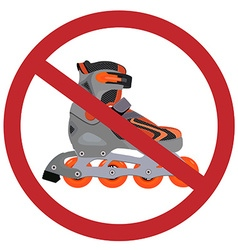 No rollerblades sign vector image
