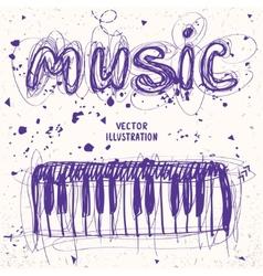 Piano doodle vector