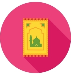 Prayer rug vector