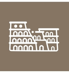 Rome colosseum italy building ancient line art vector