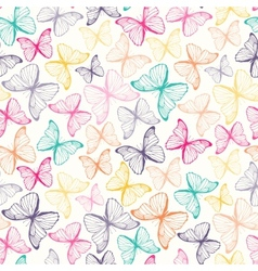 Seamless pattern with colorful hand drawn outline vector image vector image