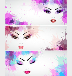 Set of fashion banners vector image