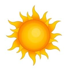 Sun icon cartoon style vector image vector image