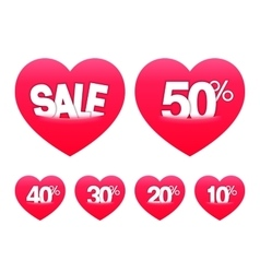 Valentines day sale stickers vector