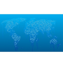 water drops world map vector image