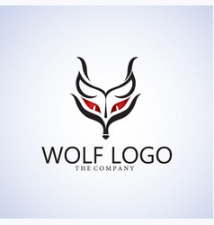 Wolf logo ideas design vector