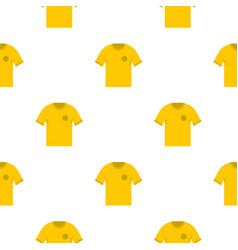 Yellow soccer shirt pattern seamless vector