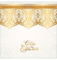 Floral golden eastern decor with place for your vector