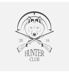 Hunting Club logo vector image