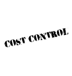 Cost control rubber stamp vector