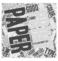 Paper and printing the link word cloud concept vector