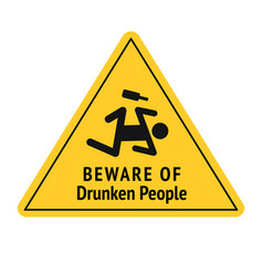funny road sign for bar or night club vector image