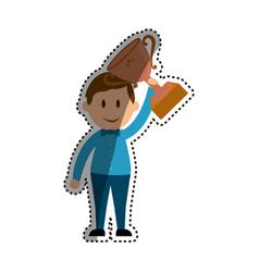 businessman entrepreneur cartoon vector image