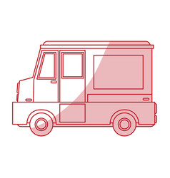 Food truck design vector