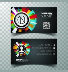 Modern blue business card design template vector