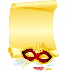 Masquerade invitation vector