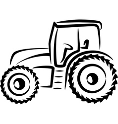 Simple with a tractor vector