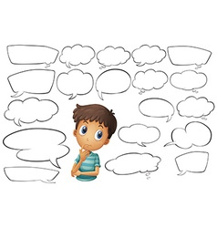 Thinking bubbles vector image