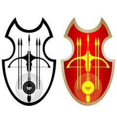 Shield crossbow and arrows-1 vector