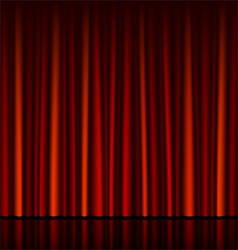 Seamless red curtain with stage vector
