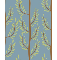 Trees seamless pattern trunk and leaf texture vector