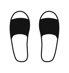 Spa slippers icon vector