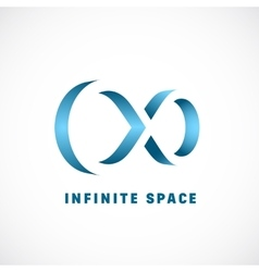 Negative space abstract infinity sign vector