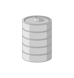Aluminum barrel for beer icon cartoon style vector