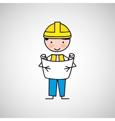 Worker engineer architect vector