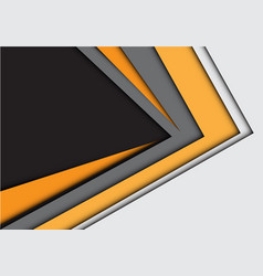 abstract yellow arrow on gray design vector image vector image