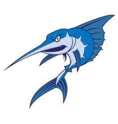 Blue marlin mascot vector image vector image