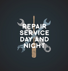 color repair service sign template vector image vector image