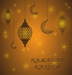 Creative lantern of ramadan kareem background vector