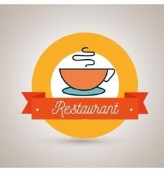 cup coffee restaurant icon vector image
