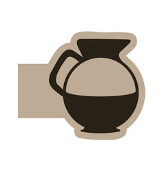 Dark contour sticker water pitcher icon vector