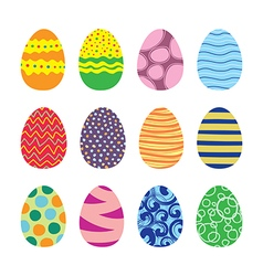 Easter Eggs Icons Set vector image vector image