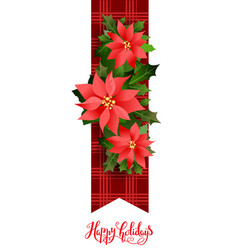 floral nature holiday banner vector image vector image