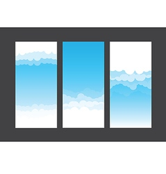 Nature background blue sky and cloud element 003 vector