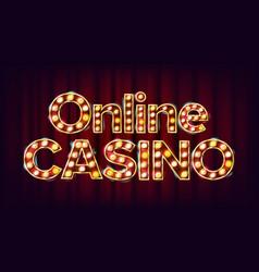 online casino banner casino vintage golden vector image vector image
