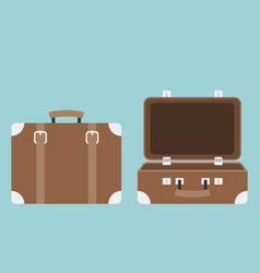 open and close luggage vector image