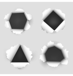Paper sheet with holes vector image vector image
